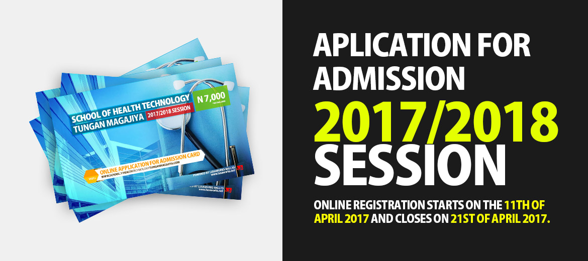 Application for Admission: 2017/2018 session