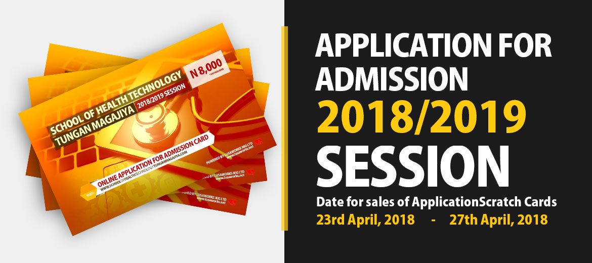 Application for Admission: 2018/2019 session