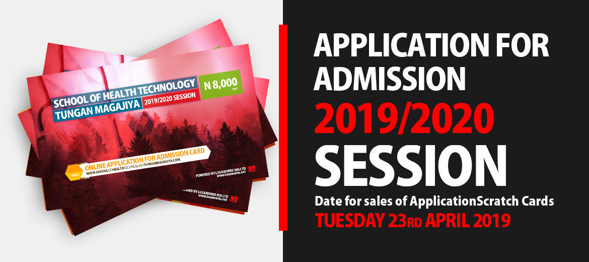 Application for Admission: 2019/2020 session