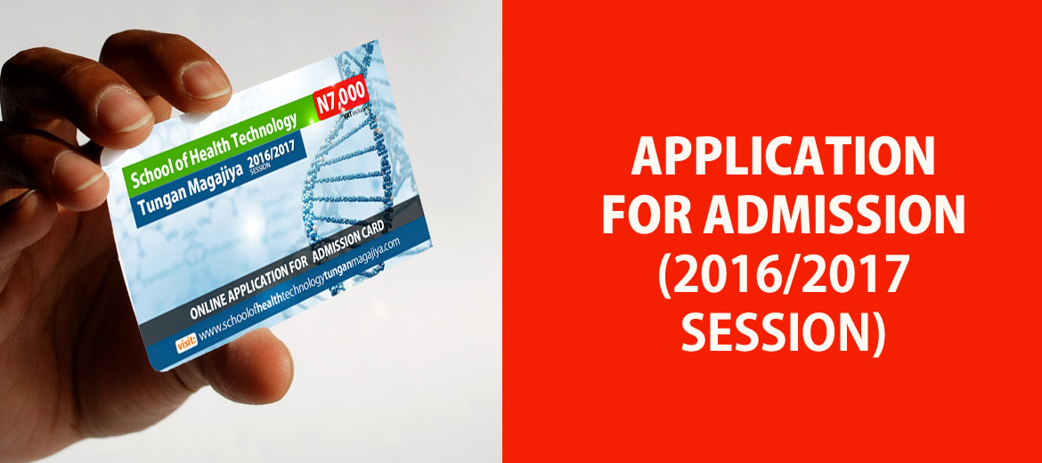 Application for Admission 2016/2017 Session