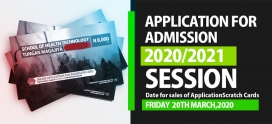 Application for Admission (2020/2021 SESSION)